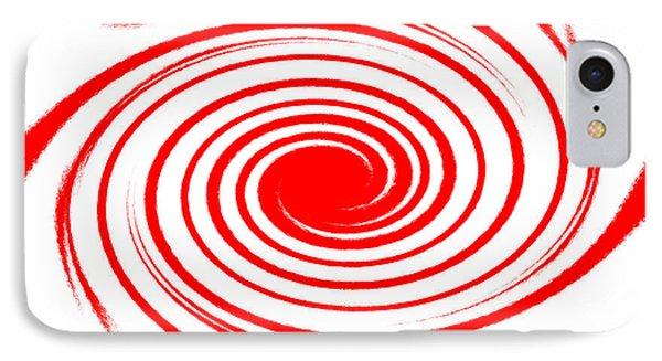 Red Swirl War  Phone Case by Lali Kacharava