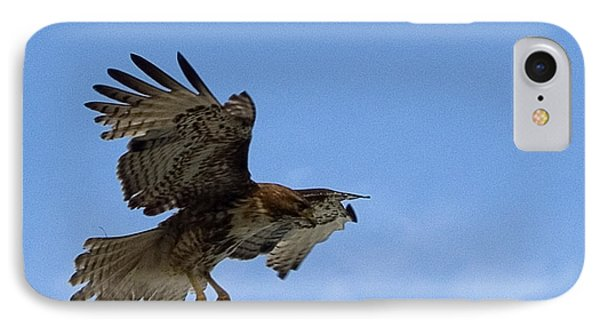 Red Tail Hawk IPhone Case by Bill Gallagher