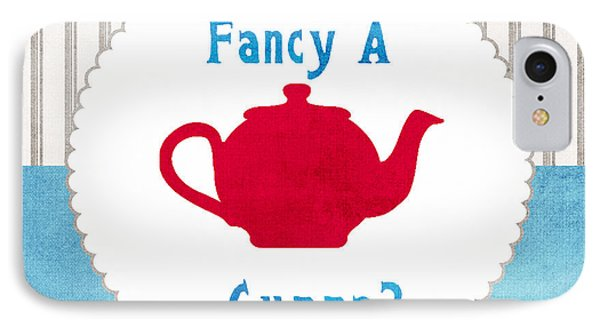 Red Teapot IPhone Case by Linda Woods