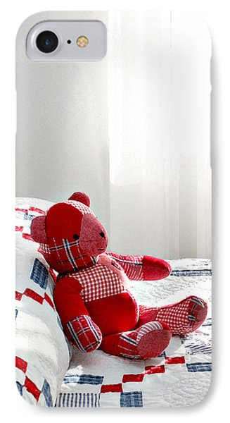Red Teddy Bear IPhone Case by Art Block Collections