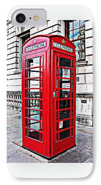 Red Telephone Box Call Box In London IPhone Case by Tom Conway