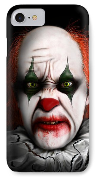 Red The Clown IPhone Case by Jeremy Martinson