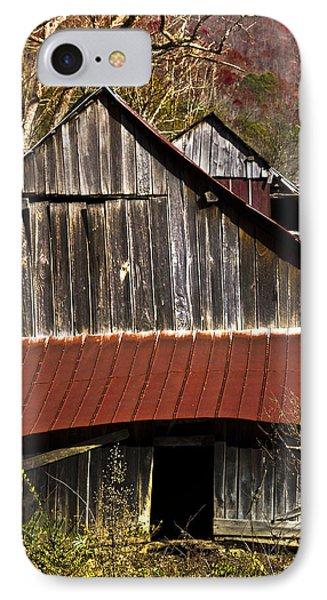 Red Tin Roof Phone Case by Debra and Dave Vanderlaan