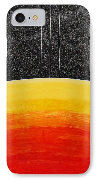 Red To Yellow Spacescape IPhone Case