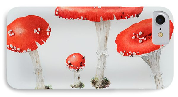 Red Toadstools Fly Agaric  IPhone Case