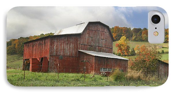 IPhone Case featuring the photograph Red Tobacco Drying Barn by Robert Camp