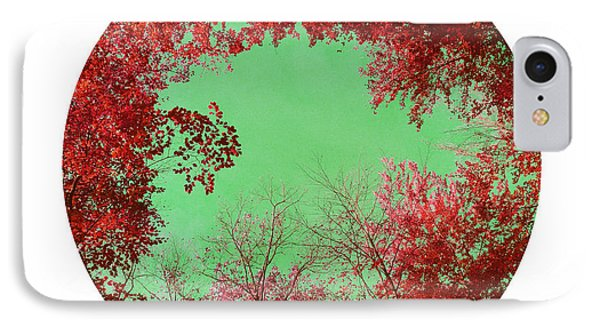 Red Trees Phone Case by Angela Bruno