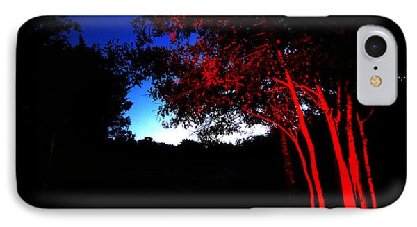 IPhone Case featuring the photograph Red Trees by Susan D Moody