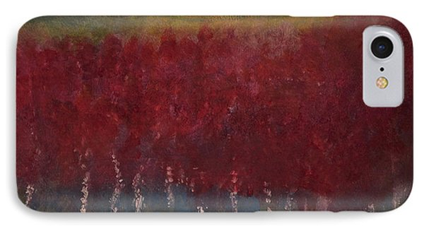 Red Trees Watercolor IPhone Case