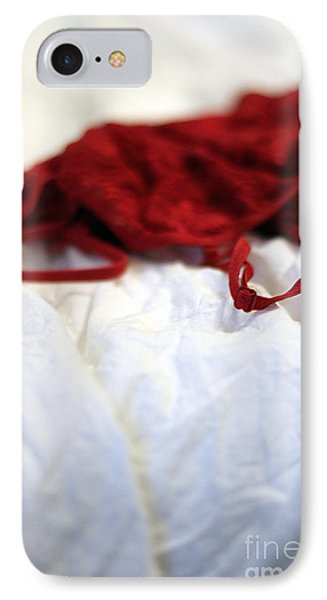 Red Phone Case by Trish Mistric
