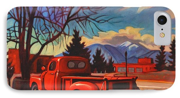 IPhone Case featuring the painting Red Truck by Art James West