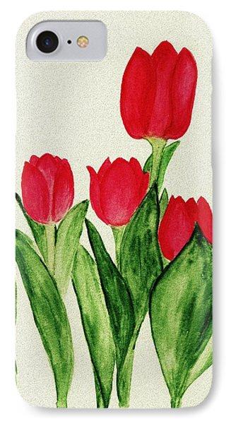 Red Tulips Phone Case by Anastasiya Malakhova