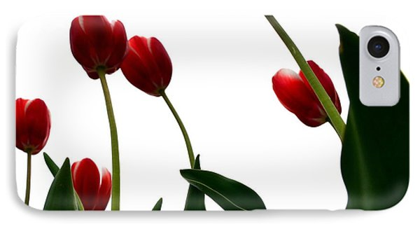 Red Tulips From The Bottom Up Vl Phone Case by Michelle Calkins