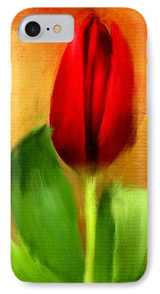 Red Tulips Triptych Section 1 IPhone Case