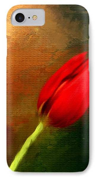 Red Tulips Triptych Section 3 IPhone Case