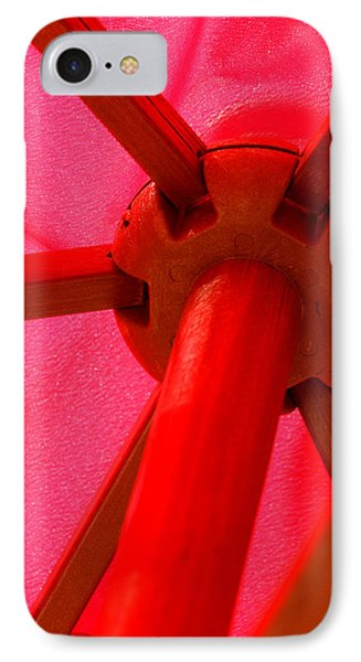 Red Umbrella Phone Case by Art Block Collections