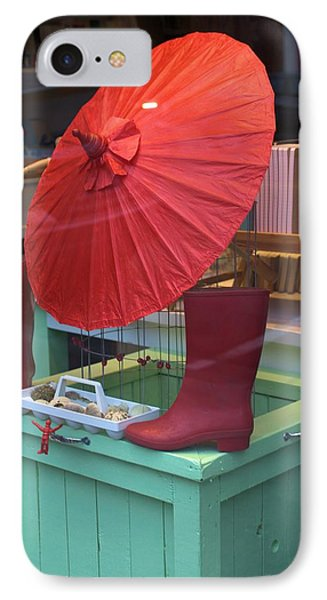 IPhone Case featuring the photograph Red Umbrella by Douglas Pike