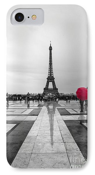 Paris iPhone 7 Case - Red Umbrella by Timothy Johnson