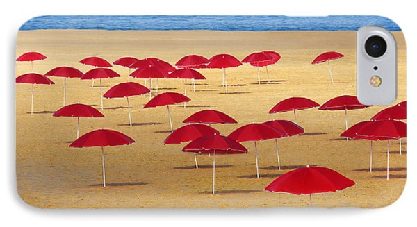 Red Umbrellas IPhone Case by Carlos Caetano
