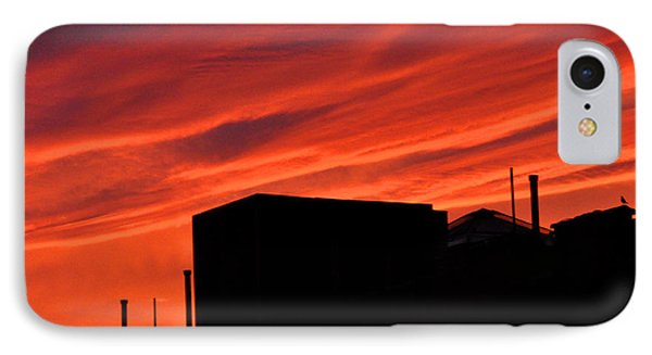 Red Urban Sky IPhone Case by Diane Lent