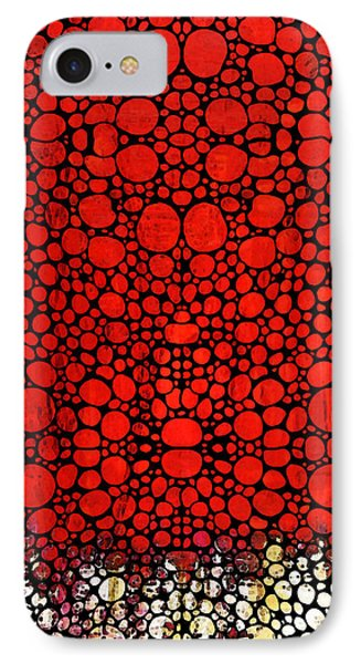 Red Valley - Abstract Landscape Stone Rock'd Art Phone Case by Sharon Cummings