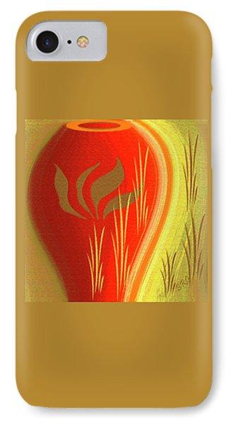 Red Vase IPhone Case by Ben and Raisa Gertsberg