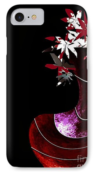 Red Vase IPhone Case by Ann Calvo