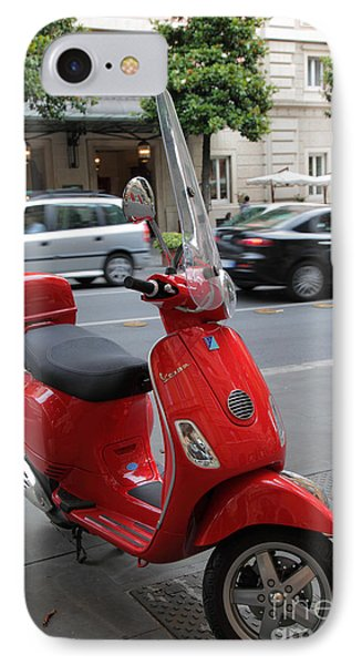Red Vespa Phone Case by Inge Johnsson