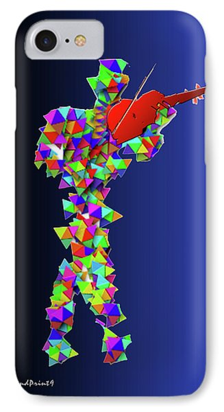IPhone Case featuring the digital art Red Violin by Asok Mukhopadhyay