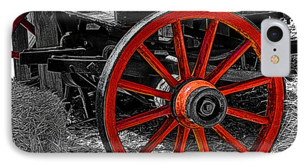Red Wagon Wheel Phone Case by Jack Zulli