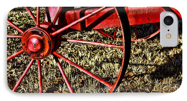 IPhone Case featuring the photograph Red Wagon Wheel by Lawrence Burry