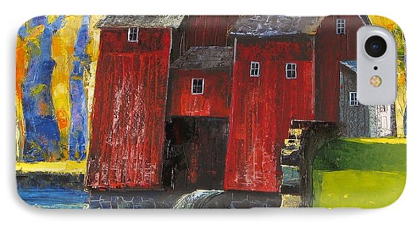 Red Watermill IPhone Case