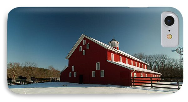 Red White And Blue At The Farm IPhone Case by Haren Images- Kriss Haren