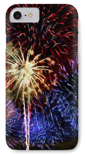 Red White And Blue IPhone Case by Dale Jackson