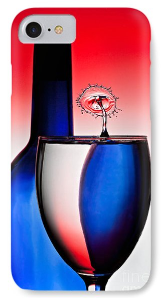 Red White And Blue Reflections And Refractions Phone Case by Susan Candelario