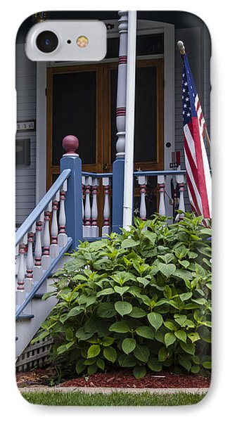 Red White And Blue IPhone Case by Wayne Meyer