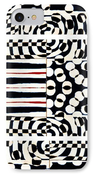 Red White Black Number 4 IPhone Case