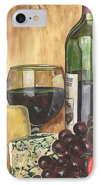 Tomato iPhone 7 Case - Red Wine And Cheese by Debbie DeWitt