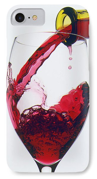 Red Wine Being Poured  Phone Case by Garry Gay