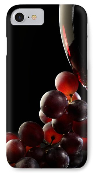 Red Wine With Grapes IPhone Case