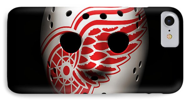 Red Wings Goalie Mask IPhone Case by Joe Hamilton