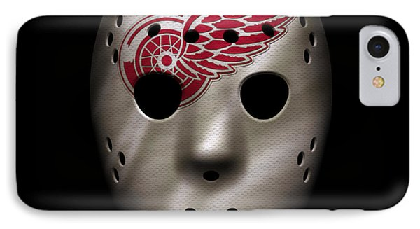 Red Wings Jersey Mask IPhone Case by Joe Hamilton