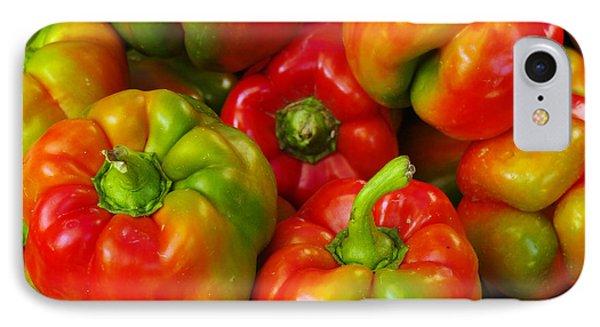 Red-yellow-green Peppers Phone Case by John Ayo