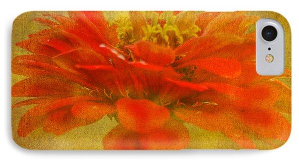 Red Zinnia Essence IPhone Case by Carol F Austin
