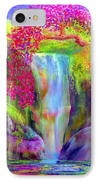 Waterfall And White Peacock, Redbud Falls IPhone 7 Case