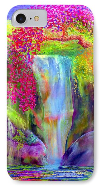 Waterfall And White Peacock, Redbud Falls IPhone Case
