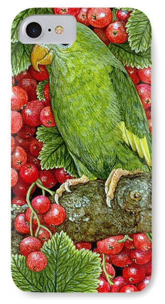 Parakeet iPhone 7 Case - Redcurrant Parakeet by Ditz