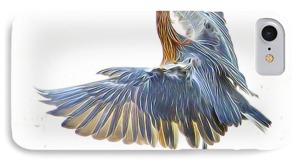 IPhone Case featuring the digital art Reddish Egret 1 by William Horden