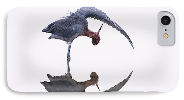 Reddish Egret Phone Case by Marie Read