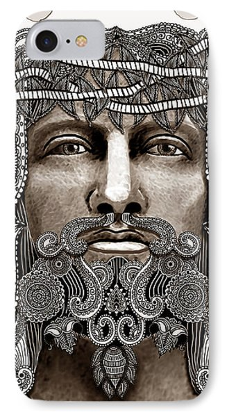 Redeemer - Modern Jesus Iconography - Copyrighted Phone Case by Christopher Beikmann